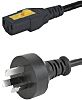 Schurter 2m Power Cable, C13, IEC to AS/NZ
