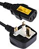 Schurter 2m Power Cable, C13, IEC to UK