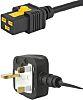 Schurter 2m Power Cable, C19 to BS 1363, 13 A, 125 (CSA) V ac, 125 (UL) V ac, 250 (IEC) V ac