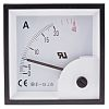 RS PRO Analogue Panel Ammeter 20A AC, 68mm x 68mm, ±1.5 % Moving Iron
