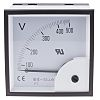 RS PRO Analogue Voltmeter AC ±1.5 %, 92 x 92 mm