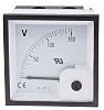 RS PRO Analogue Voltmeter DC ±1.5 %, 68 x 68 mm