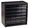 RS PRO 24 Drawer ESD Cabinet, 290 x