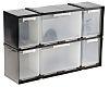 RS PRO 6 Drawer Storage Unit, Plastic, 208mm