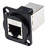 RS PRO Cat6 RJ45 Feedthrough Connector, 2 Port,
