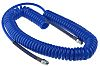 RS PRO 6m Blue Coil Tubing with Connector,
