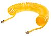 RS PRO 4m Yellow Coil Tubing with Connector,