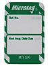Brady Inspection Tag, White on Green