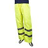 RS PRO Yellow Hi-Vis Unisex Polyester Waterproof Trousers
