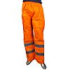 RS PRO Orange Hi-Vis Unisex Polyester Waterproof Trousers