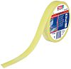 Tesa Yellow PVC 15m Hazard Tape, 25mm x