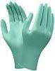 Ansell Green Neoprene Disposable Gloves size 8 -