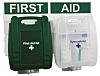 Wall Mounted First Aid & Eyewash Kit for