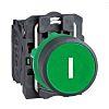 Schneider Electric, Harmony XB5 Non-illuminated Green Round Push