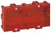 Legrand Batibox Red Plastic Back Box, NF, IP00,