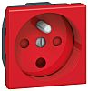 Legrand Red 1 Gang Plug Socket, 16A, Type