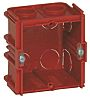 Legrand Batibox Red Plastic Back Box, NF, IP00,