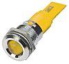 RS PRO Yellow Indicator, 24 V ac/dc, 22mm