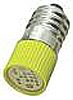 LED Reflector Bulb, E10, Yellow, Multichip, 10mm dia.,