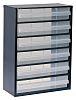 Raaco 6 Drawer Storage Unit, Steel, 417mm x