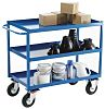 RS PRO 3 Shelf Steel Tray Trolley, 500