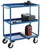 RS PRO 3 Shelf Steel Tray Trolley, 500