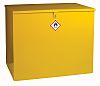RS PRO Yellow Lockable 1 Doors Hazardous Substance Cabinet, 810mm x 965mm x 630mm
