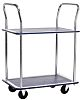RS PRO 2 Shelf Steel Trolley, 725 x