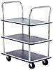 RS PRO 3 Shelf Steel Trolley, 725 x