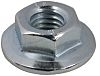 21.8mm Plain Stainless Steel Hex Flanged Nut, M10,