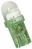 LED Reflector Bulb, Wedge, Green, 9 mm Lamp,