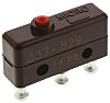 SPDT-NO/NC Plunger Microswitch, 5 A @ 250 V