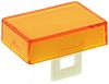 Orange Rectangular Push Button Lens for use with