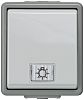 Grey 10 A Surface Mount Rocker Light Switch