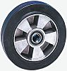 Guitel Black Rubber Trolley Wheel, 400kg
