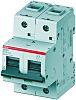ABB High Performance 80A MCB Mini Circuit Breaker2P Curve C, Breaking Capacity 36 kA