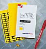 HellermannTyton Yellow Address Label, 11 x 38mm, Pack