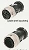 ITT Cannon Connector, 4 contacts Cable Mount Plug,