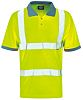 Dickies Yellow Men Hi Vis Polo Shirt, L