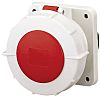 MENNEKES, TorsionSpringCONTACT IP67 Red Panel Mount 5P Industrial