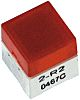 IP00 Red Cap Tactile Switch, SPST-NO 50 mA