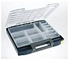 Raaco 12 Cell Blue PC, PP Compartment Box,
