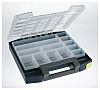 Raaco 13 Cell Blue PC, PP Compartment Box,