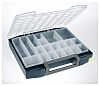 Raaco 20 Cell Blue PC, PP Compartment Box,