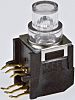 Transparent Button Tactile Switch, SPDT-NO/NC 100 mA @