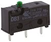 SPDT-NO/NC Plunger Microswitch, 100 mA @ 30 V