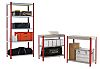 RS PRO Grey, Red Steel Twinspan Shelving System,