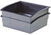 Licefa Black Plastic Stackable Storage Bin, 82mm x