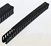 Betaduct Black Slotted Panel Trunking - Open Slot,