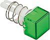 Embellecedor para botón pulsador Verde Cuadrado para uso con Serie A8
